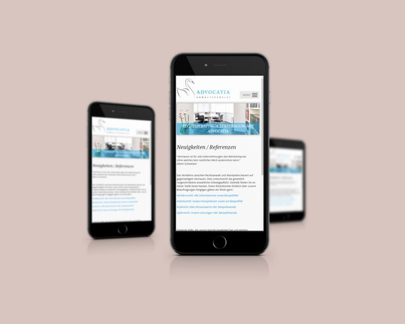 Webseite Telephone - responsive Webdesign